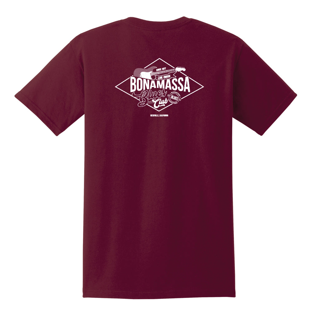 Bonamassa Blues Club Pocket T-Shirt (Unisex) - Maroon
