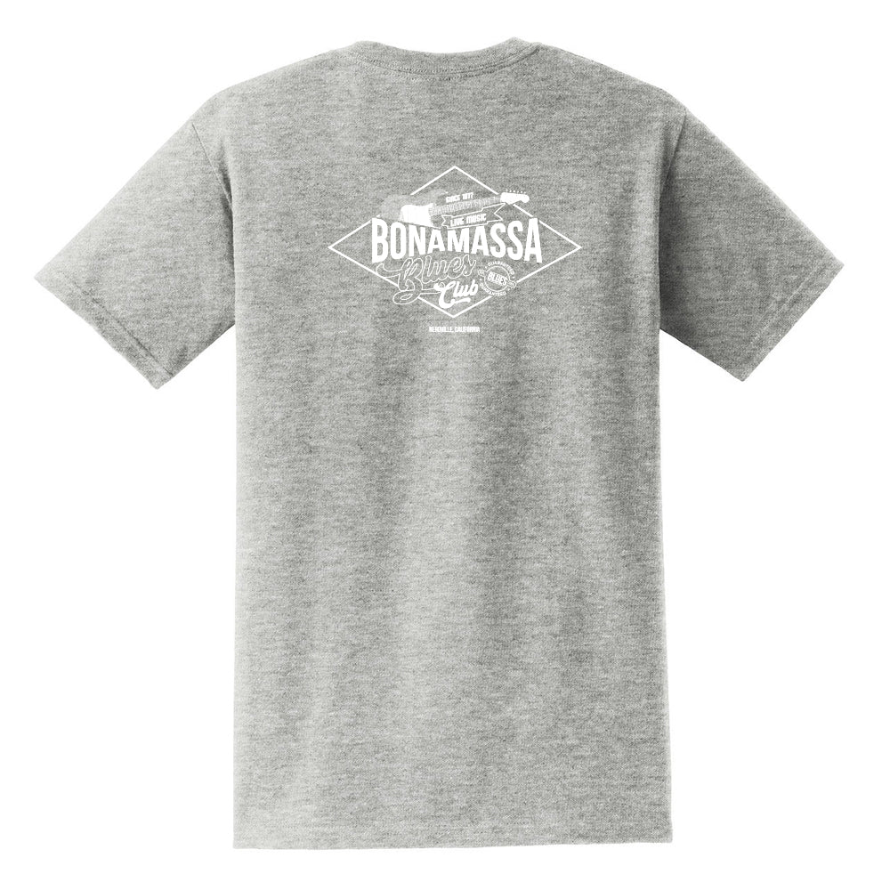 Bonamassa Blues Club Pocket T-Shirt (Unisex) - Grey/White