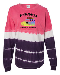 Blues Cruiser Tie Dye Collegiate Long Sleeve (Unisex) - Pink/Purple