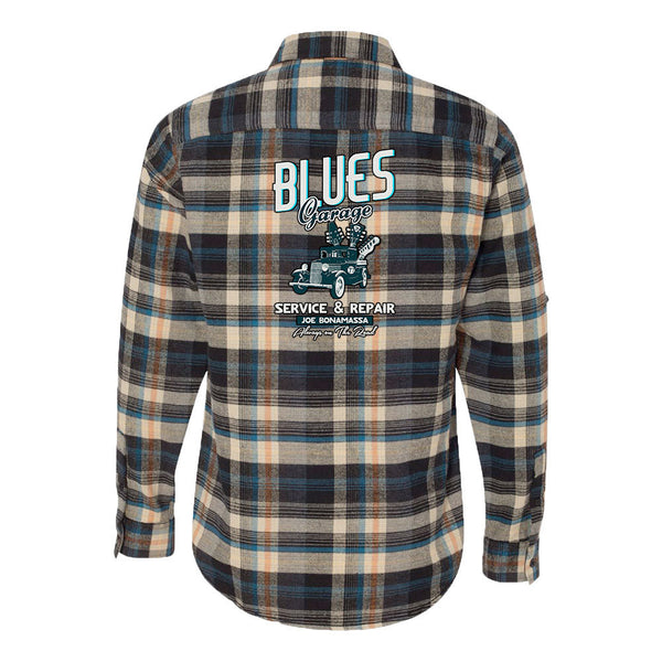 Blues Garage Flannel Long Sleeve (Men) - Dark Khaki