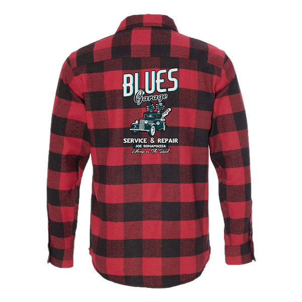 Blues Garage Flannel Long Sleeve (Men) - Red