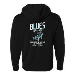 Blues Garage Zip-Up Hoodie (Unisex)