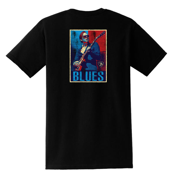Blues Illustration Pocket T-Shirt (Unisex)