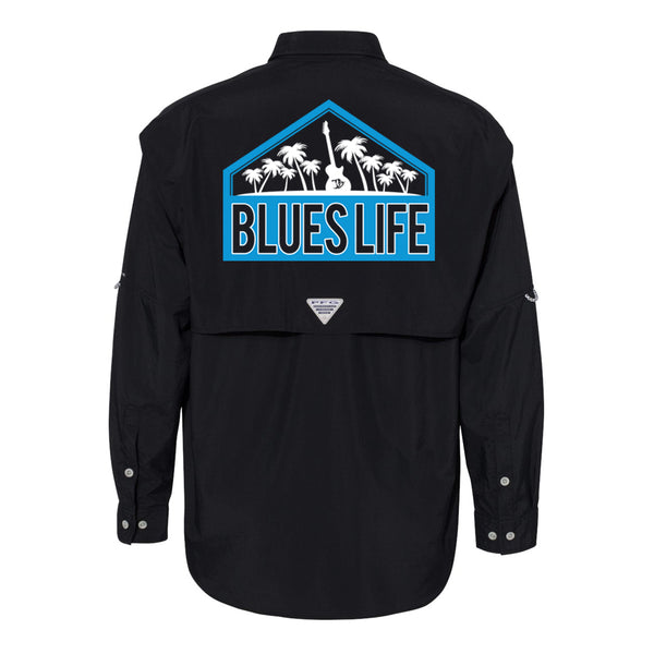 Blues Life Shield Columbia PFG Bahama II Long Sleeve (Men) - Black