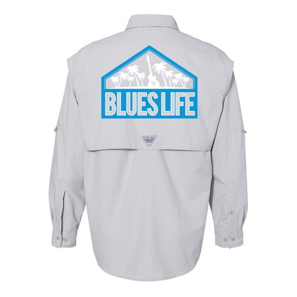 Blues Life Shield Columbia PFG Bahama II Long Sleeve (Men) - Grey