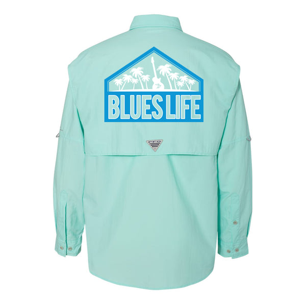 Blues Life Shield Columbia PFG Bahama II Long Sleeve (Men) - Gulf Stream