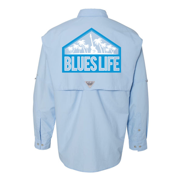 Blues Life Shield Columbia PFG Bahama II Long Sleeve (Men) - Sail
