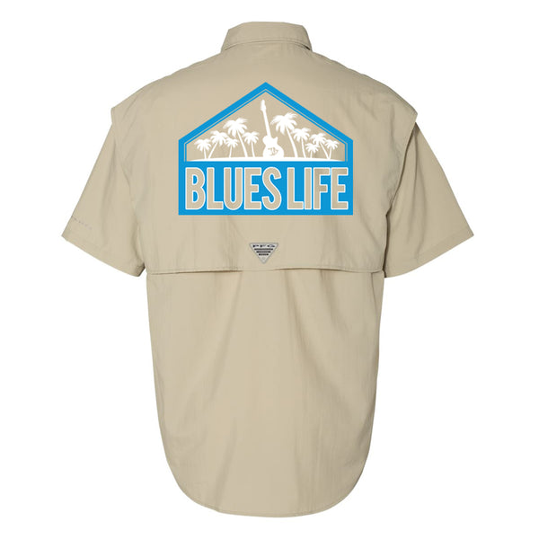 Blues Life Shield Columbia PFG Bahama II Short Sleeve (Men) - Fossil