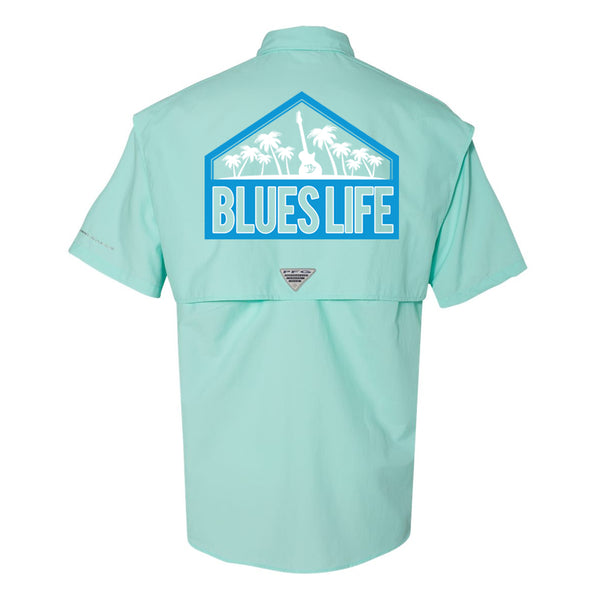 Blues Life Shield Columbia PFG Bahama II Short Sleeve (Men) - Gulf Stream