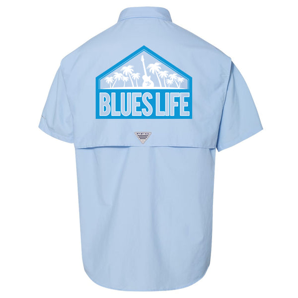 Blues Life Shield Columbia PFG Bahama II Short Sleeve (Men) - Sail