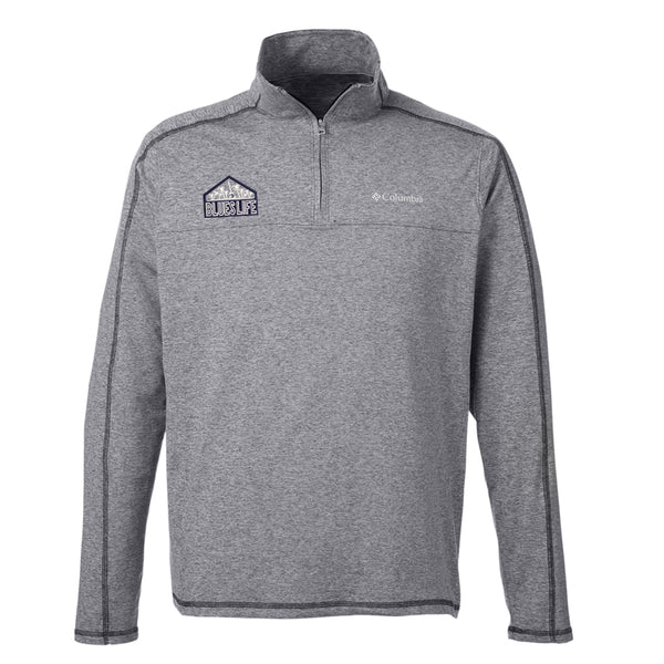 Blues Life Shield Columbia Tenino Hills II Half-Zip Pullover (Men) - Black