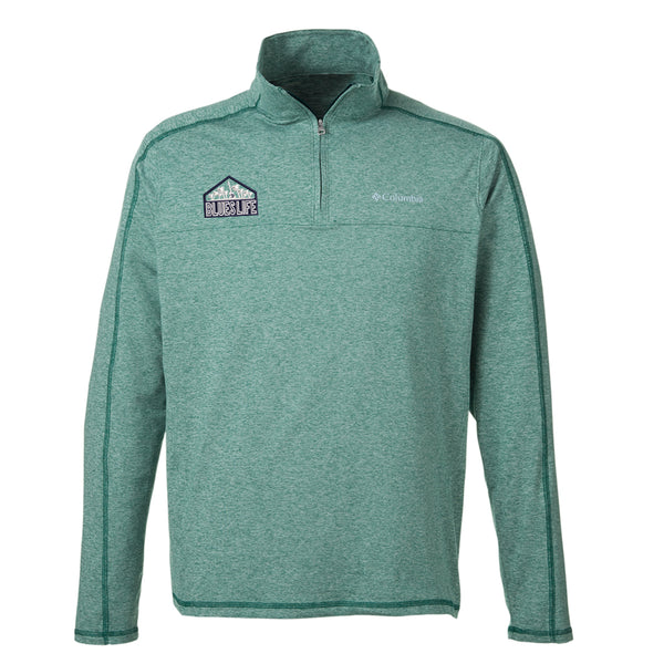 Blues Life Shield Columbia Tenino Hills II Half-Zip Pullover (Men) - Ivy