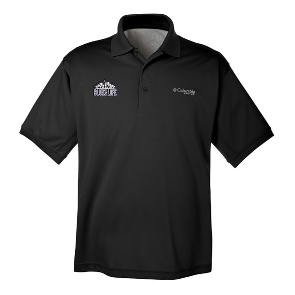 Blues Life Shield Columbia Polo (Men) - Black
