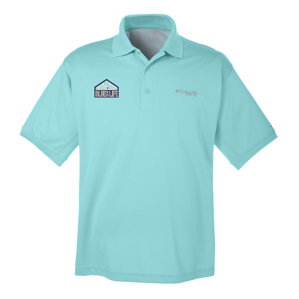 Blues Life Shield Columbia Polo (Men) - Gulf Stream