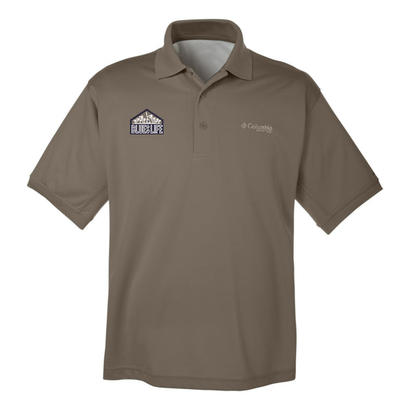 Blues Life Shield Columbia Polo (Men) - Sage