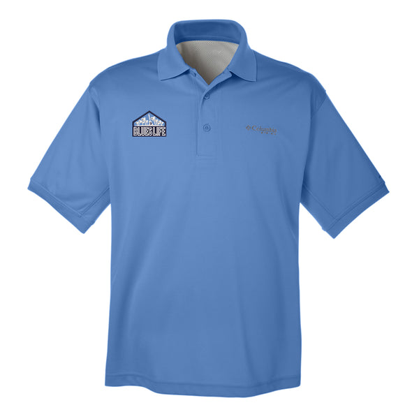 Blues Life Shield Columbia Polo (Men) - White Cap Blue