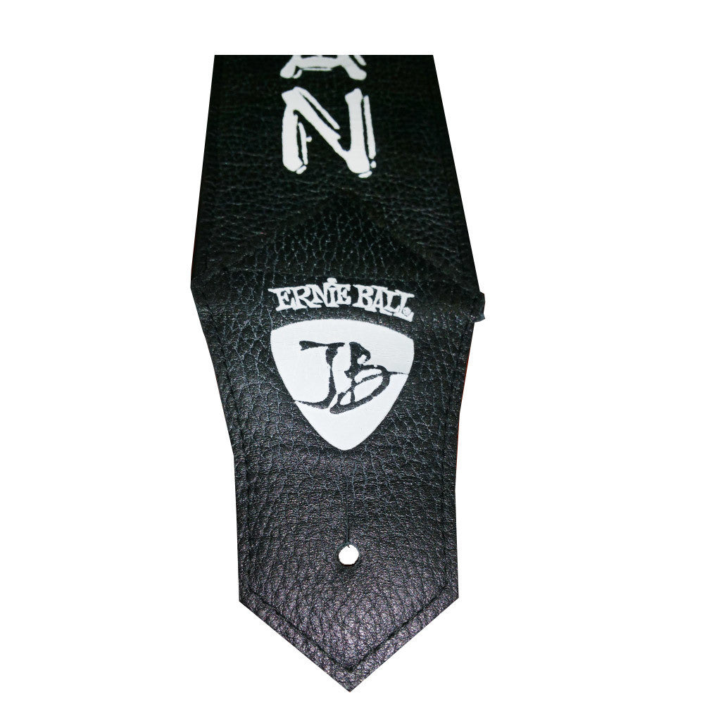 Black Leather - Ernie Ball JB Signature Blues Man Guitar Strap