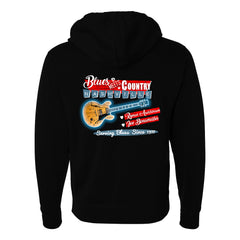 Blues Meets Country Zip-Up Hoodie (Unisex)