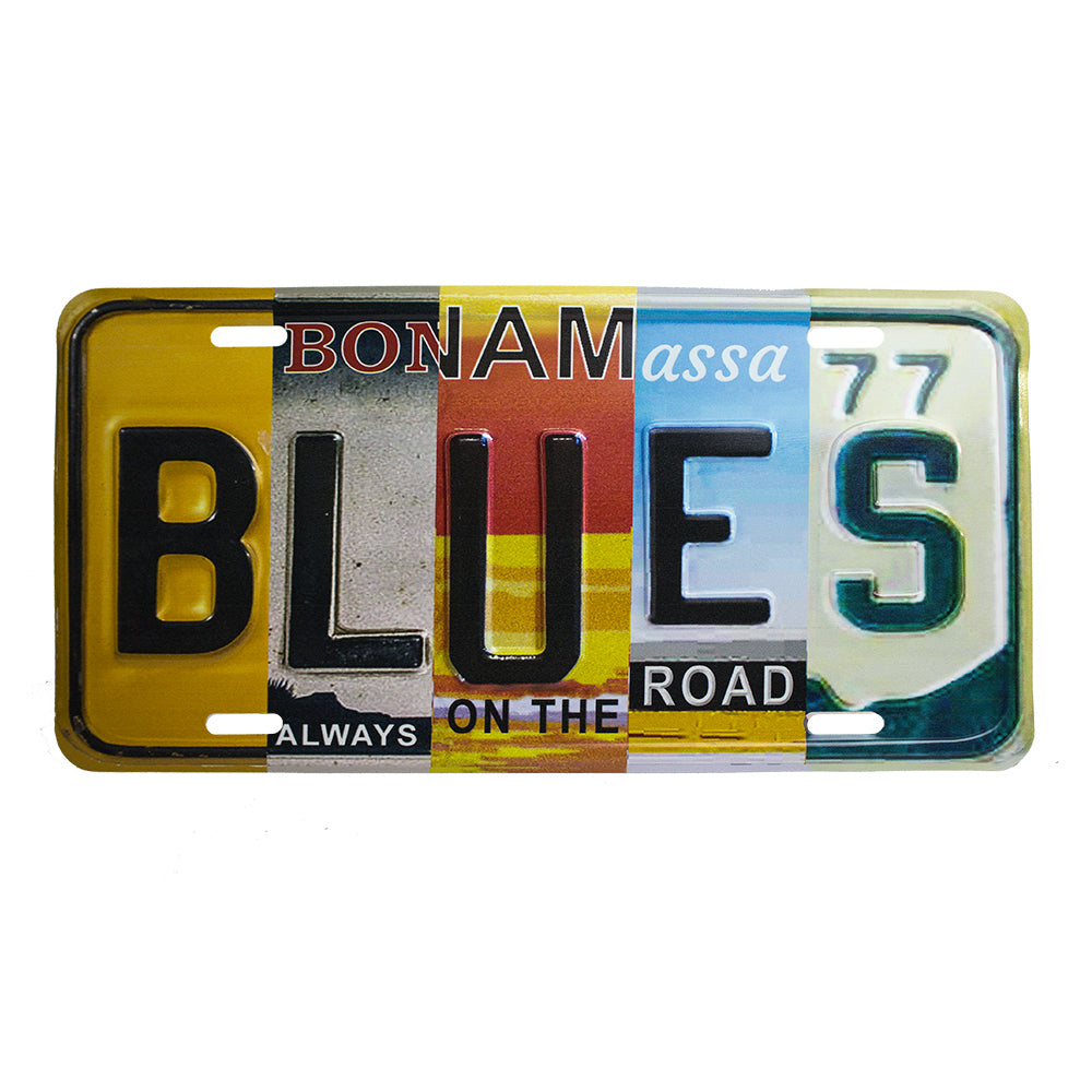 Blues License Plate