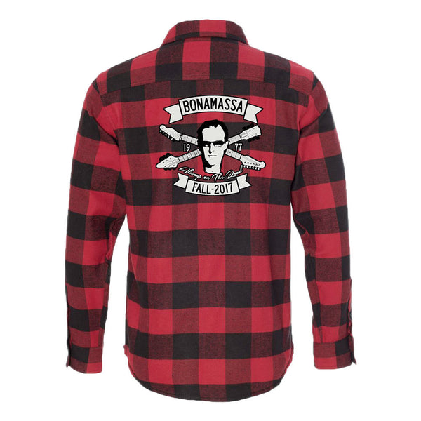 Headstock Blues Flannel Long Sleeve (Men) - Red