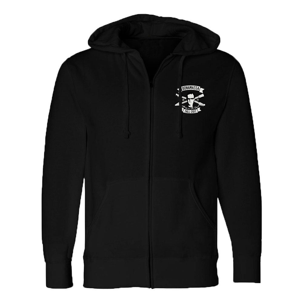 Headstock Blues Zip-Up Hoodie (Unisex)