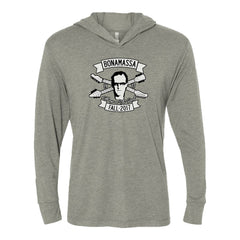 Headstock Blues Long Sleeve & Hoodie (Unisex) - Premium Heather Grey