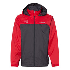 Blues Rock Columbia Rain Jacket (Men) - Charcoal/Red