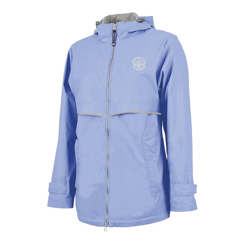 Blues Rock Rain Jacket (Women) - Periwinkle