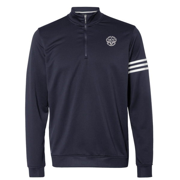 Blues Rock Adidas French Terry 1/4 Zip Pullover (Men) - Navy