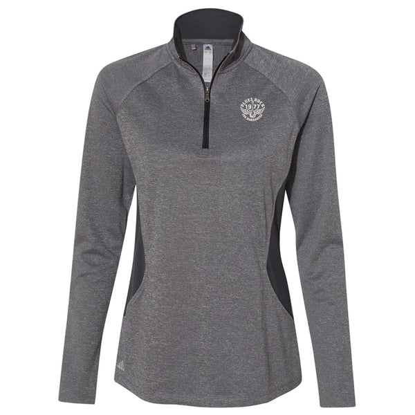 Blues Rock Adidas Lightweight 1/4 Zip Pullover (Women) - Heather Carbon
