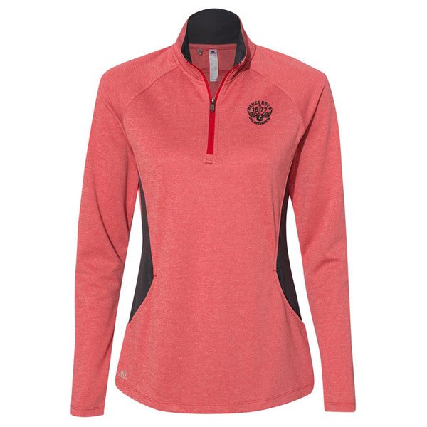 Blues Rock Adidas Lightweight 1/4 Zip Pullover (Women) - Red