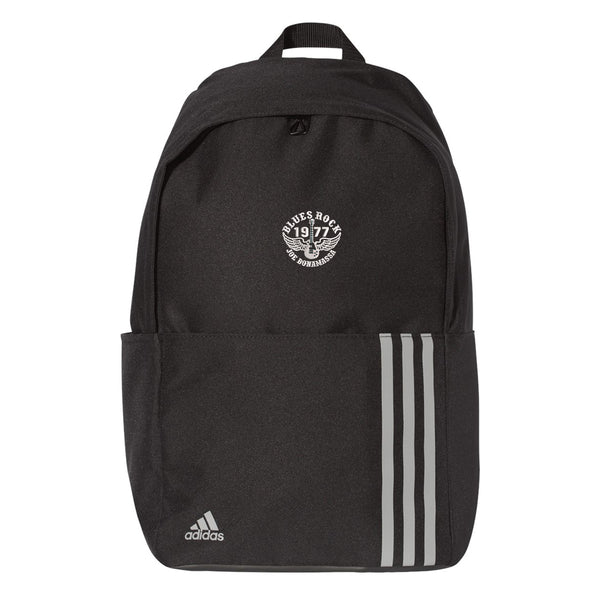 Blues Rock Adidas 3 Stripes Backpack - Black