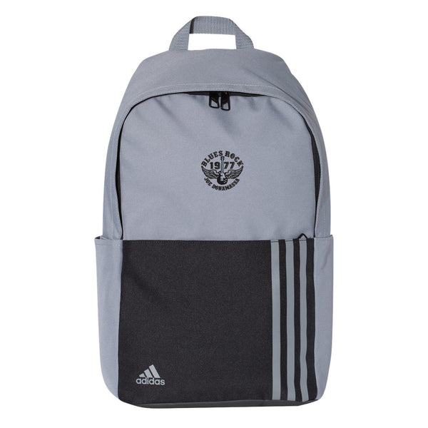 Blues Rock Adidas 3 Stripes Backpack - Grey