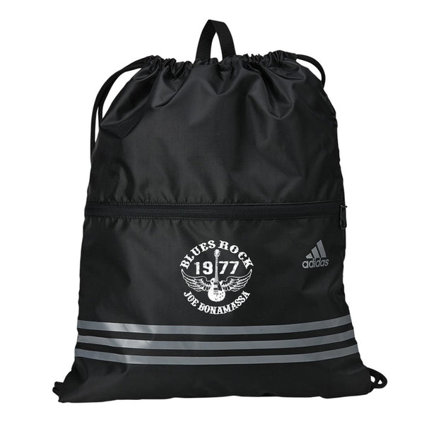 Blues Rock Adidas 3 Stripes Gym Sack - Black