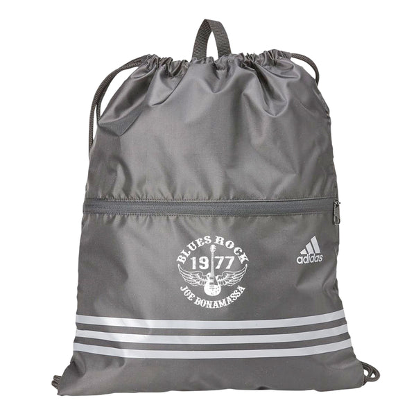 Blues Rock Adidas 3 Stripes Gym Sack - Grey