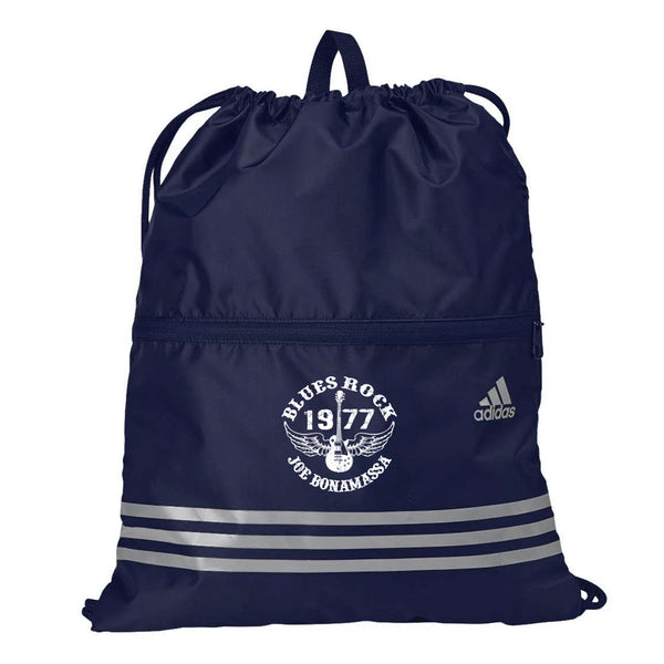 Blues Rock Adidas 3 Stripes Gym Sack - Navy