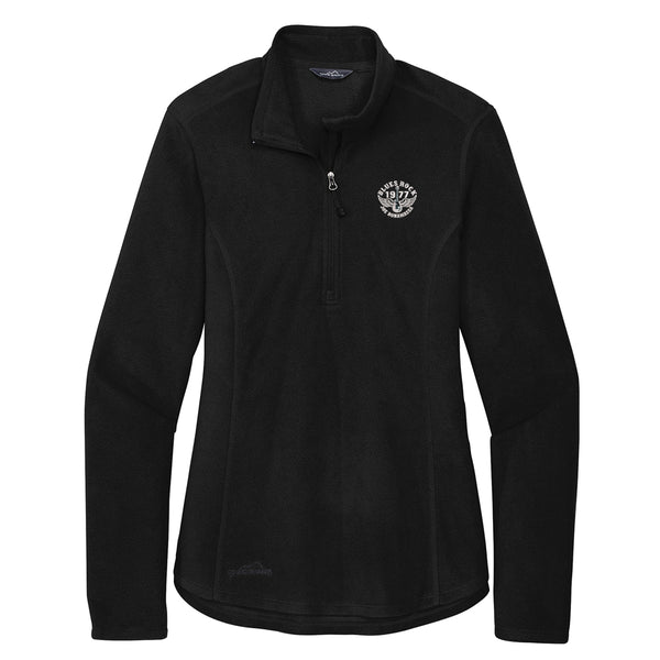 Blues Rock Eddie Bauer 1/2 Zip-Up Microfleece Jacket (Women) - Black