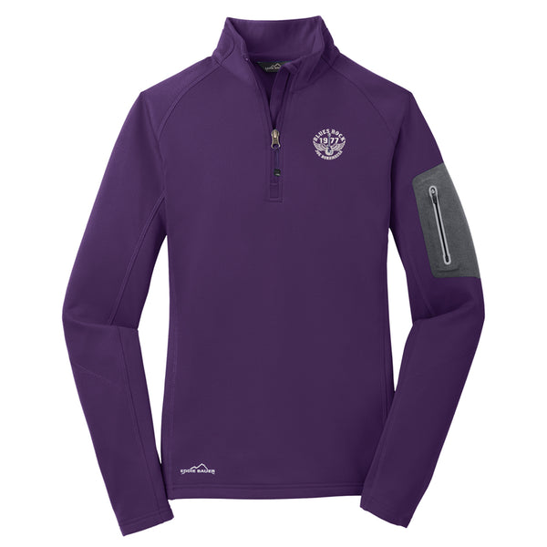 Blues Rock Eddie Bauer 1/2 Zip-Up Performance Fleece (Women) - Blackberry