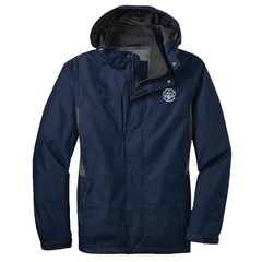 Blues Rock Eddie Bauer Rain Jacket (Men) - Navy
