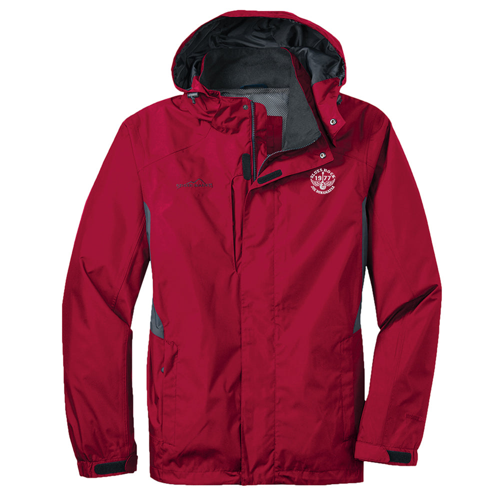 Blues Rock Eddie Bauer Rain Jacket (Men) - Red
