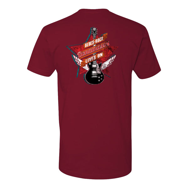 Blues Rock Lives On LC T-Shirt (Unisex) - Cardinal