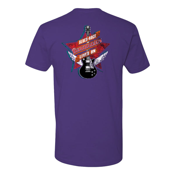 Blues Rock Lives On LC T-Shirt (Unisex) - Purple