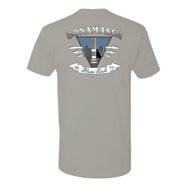 Blues Rock Guitar Logo LC T-Shirt (Unisex) - Light Grey