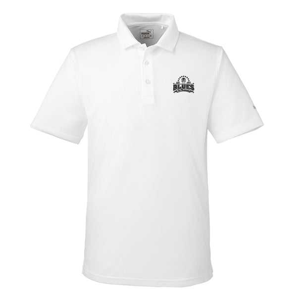 Blues Seal Puma Golf Icon Polo (Men) - White