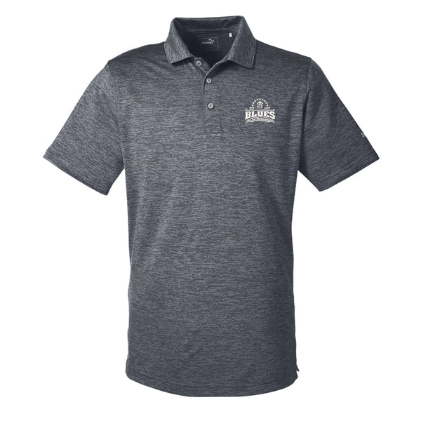 Blues Seal Puma Golf Icon Heather Polo (Men) - Black