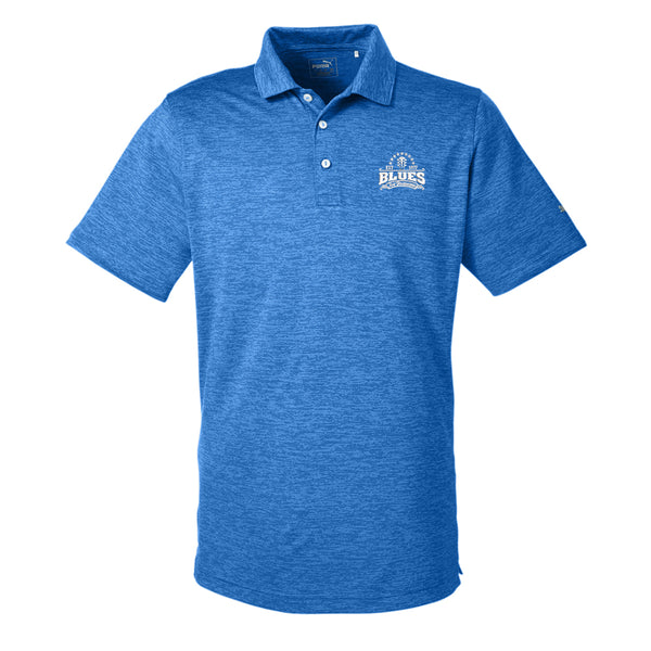 Blues Seal Puma Golf Icon Heather Polo (Men) - Lapis