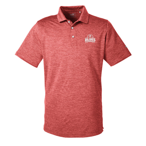 Blues Seal Puma Golf Icon Heather Polo (Men) - Red