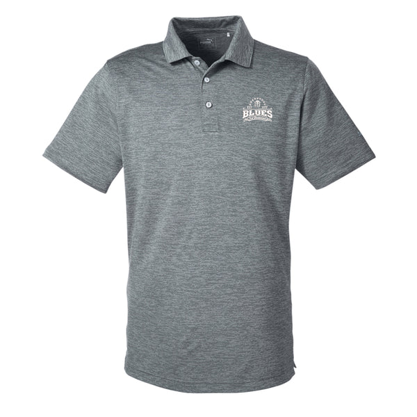 Blues Seal Puma Golf Icon Heather Polo (Men) - Shade