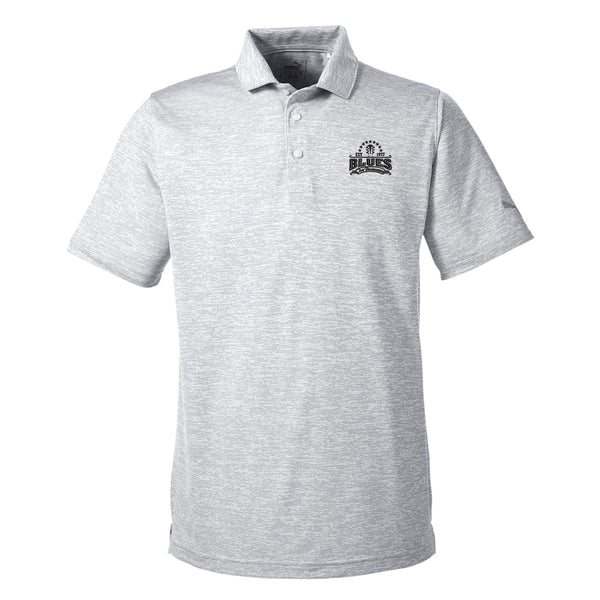 Blues Seal Puma Golf Icon Heather Polo (Men) - White
