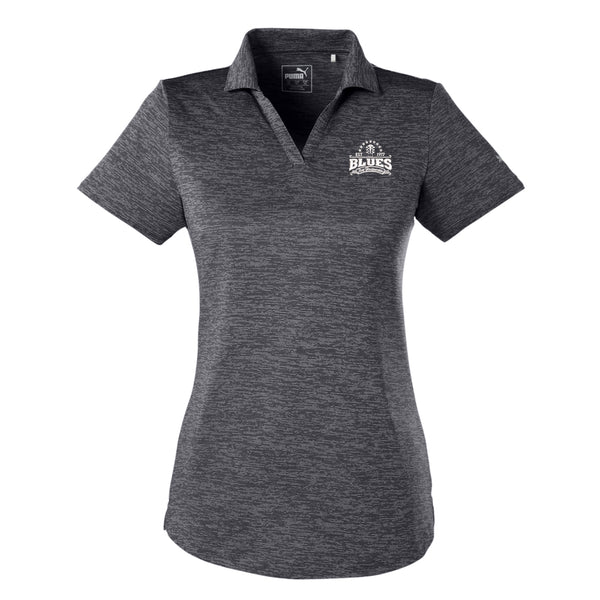 Blues Seal Puma Icon Heather Golf Polo (Women) - Black